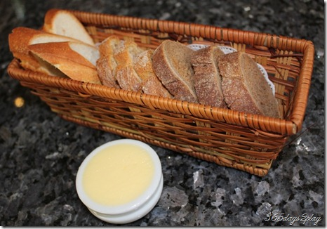 Bread basket with 3 types of bread
