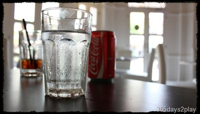 Black Earth ice water and coca cola
