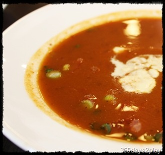 Black Earth Tomato Soup with fresh diced tomatoes