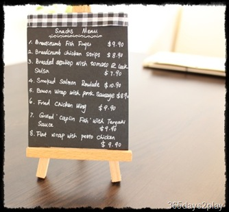 Black Earth Snacks Menu