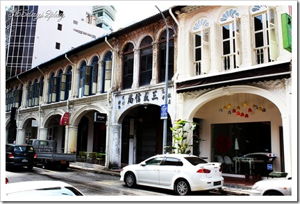 Row of Shophouses where Restaurant Ten is