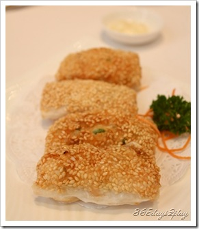 Royal China Mango and prawn sesame fritter fried