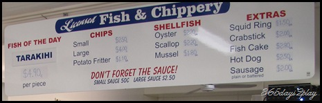 Mangonui Fish and Chippery Sign