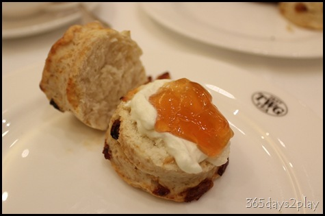 TWG Scone with whipped cream and tea jelly