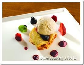 """Salta - """"Dulce de Leche"""" crepe with vanilla ice cream"""