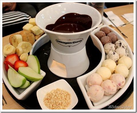 Häagen-Dazs ice-cream fondue