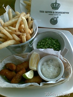 The Queen and the Mangosteen Scampi and fries