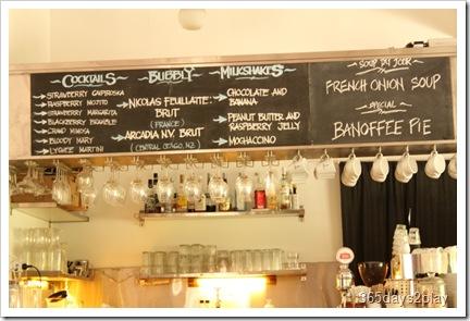 RidersCafe - Menu Board above counter