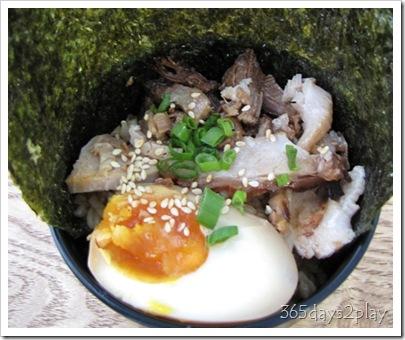 JooJoo - Rice w Char Siu and Egg