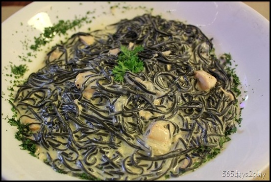 Trattoria Cucina Italiana Squid Ink pasta with Salmon