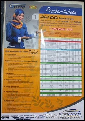 Fares on the KTM Trains