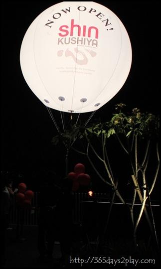 Shin Kushiya Now Open Balloon