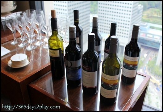 Conrad Executive Lounge - A wine for you Madam