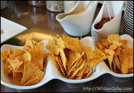Conrad Executive Lounge Chips and Cheese Dip