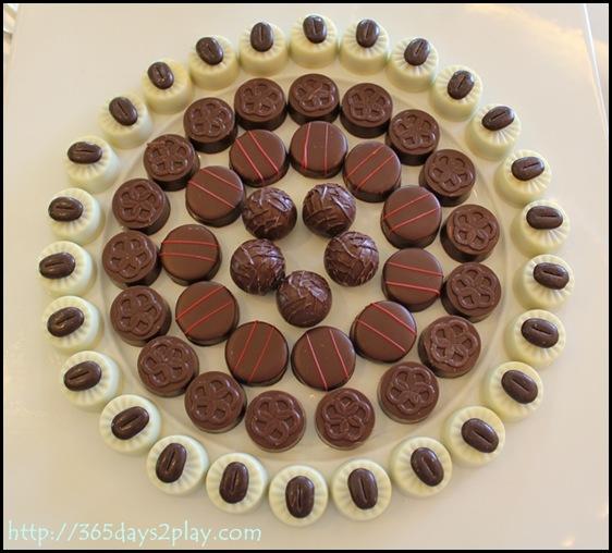 Conrad Executive Lounge Chocolates Galore