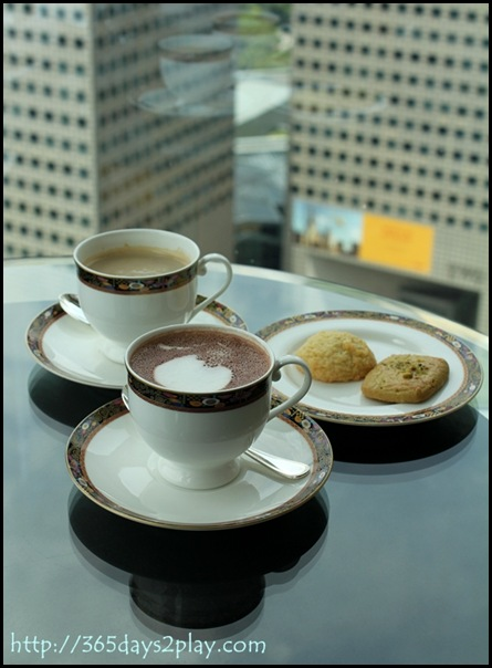 Conrad Executive Lounge Hot Chocolate and Latte (2)