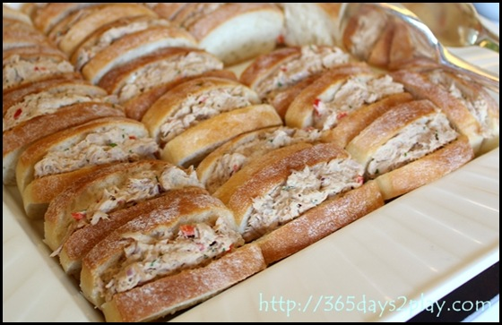 Conrad Executive Lounge Tuna Finger Sandwiches