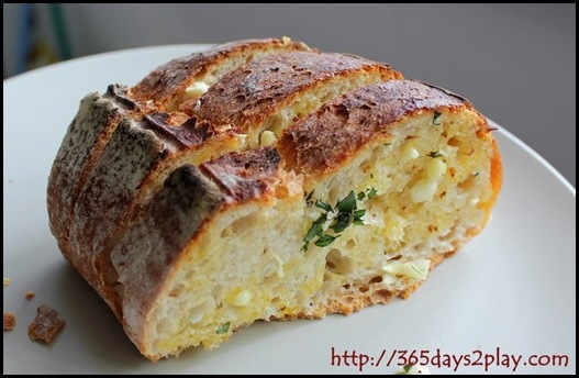 Home made rustic garlic bread