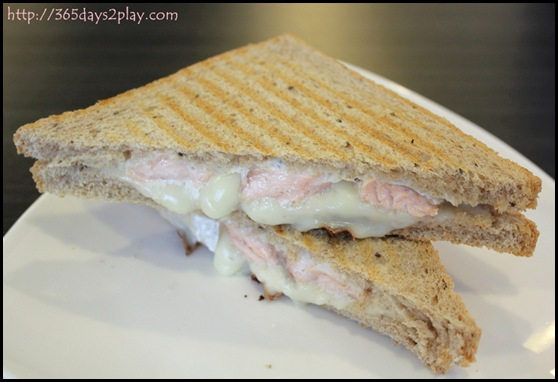 Dann's Pescetarian Cafe - Hot Chocolate - Toasties of the Day (Salmon and Cheese) (2)