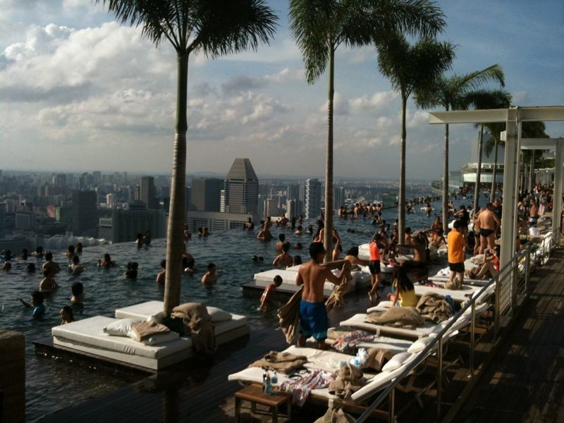 Marina Bay Sands Infinity Swimming Pool 365days2play Fun Food Family