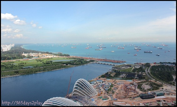 View from Marina Bay Sands SkyPark