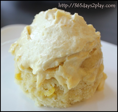 Dann's Daily - Durian Steamed Cupcake