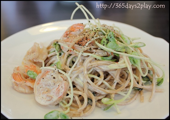 Dann's Daily - Wholewheat seafood pasta in creamy sauce