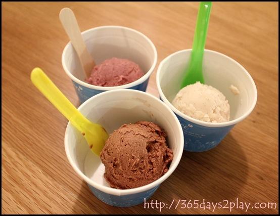 Real Food - Hazelnut, Mulberry and Vanilla Ice Cream made with rice milk