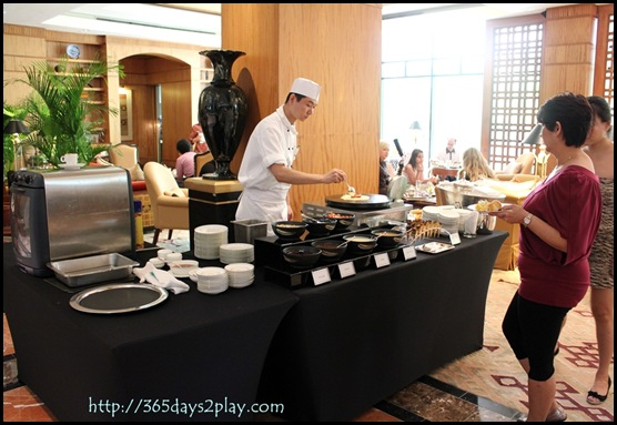 Regent Hotel Weekend Afternoon Tea - Ice cream and waffles station
