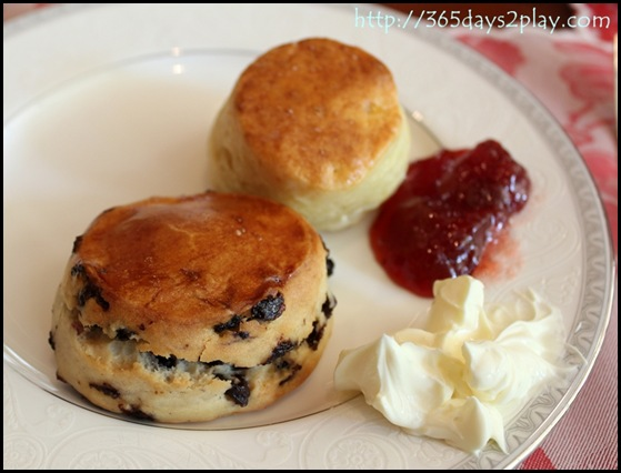 Regent Hotel Weekend Afternoon Tea - Scone with clotted cream and jam (2)