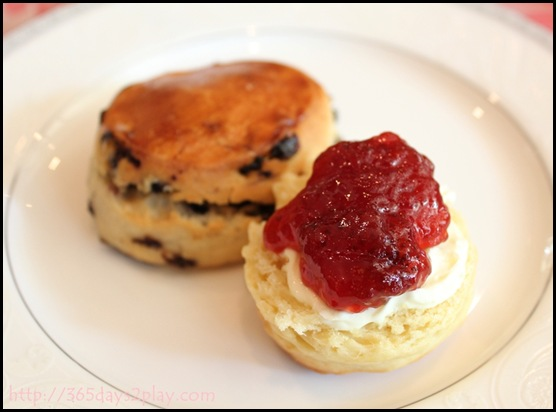 Regent Hotel Weekend Afternoon Tea - Scone with clotted cream and jam