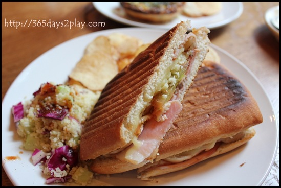 Group Therapy Coffee - Grilled Smoked Ham Panini
