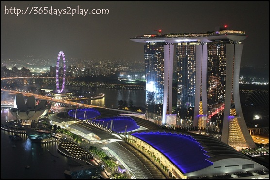 Marina Bay Sands Night Time view from Level33