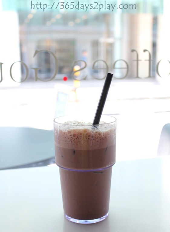 Iced Chocolate $4.50 – Actually this is quite chocolatey, which is ...