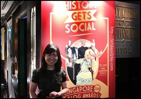 365days2play at Singapore Blog Awards 2011