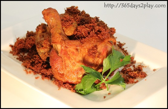 Garuda Padang Cuisine - Fried chicken with blue ginger floss