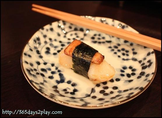 Kinki - Foie Gras & Scallop Sushi