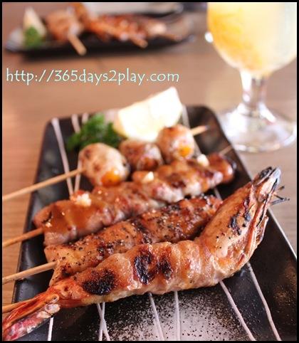 Shin Kushiya - 4 different types of kushiyaki