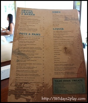 SouthCoast Breakfast Menu