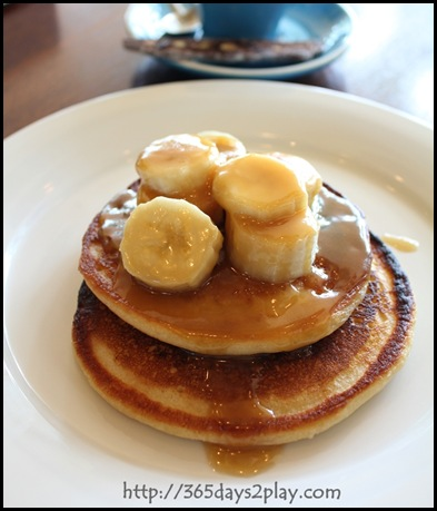 SouthCoast - Ricotta Pancakes with Caramelised Bananas