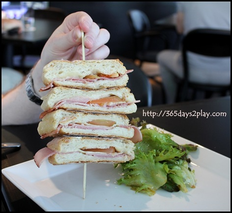 Blackbird Cafe -Ham Cheese and Tomato Sandwich
