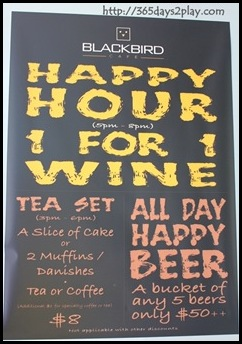 Blackbird Cafe - Happy Hour and Tea Time Promotions