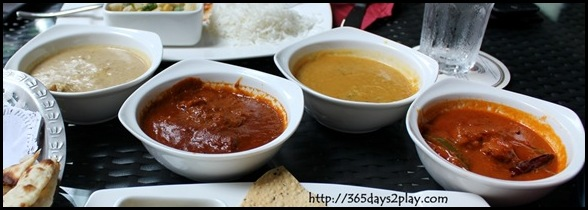 British Indian - Chicken, Mutton, Daal and Fish Curry