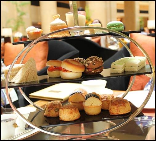 Courtyard 3-tier tea service