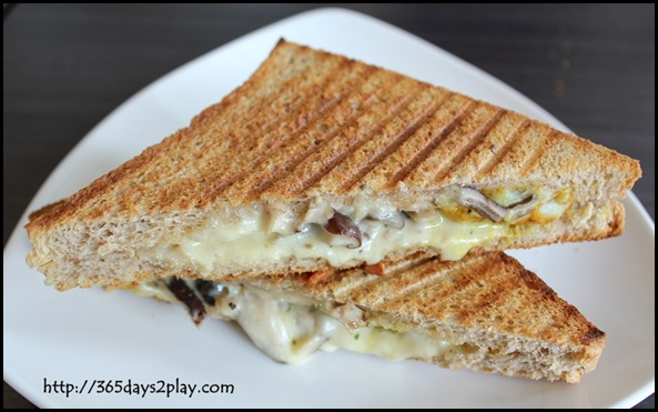 Dann's Pescetarian Cafe - Fish Mushroom Cheese Toastie