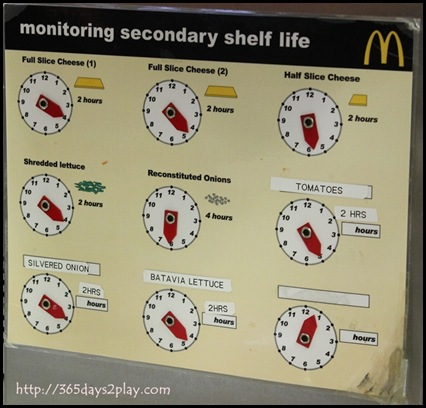 McDonald's - How long before the ingredients need to be dumped