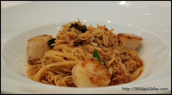 Au Jardin - Crabmeat Pasta with Seared Scallop