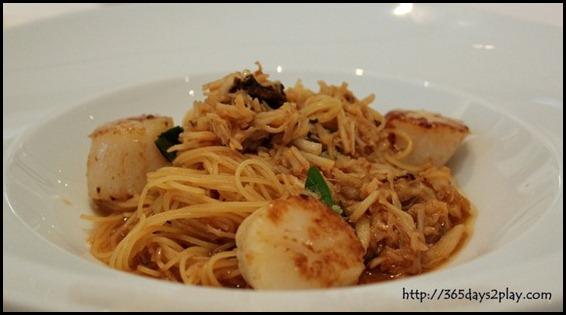 Au Jardin - Crabmeat Pasta with Seared Scallop