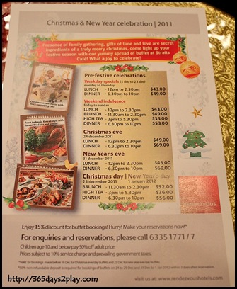 Rendezvous Hotel - Christmas Lunch and Dinner Buffets
