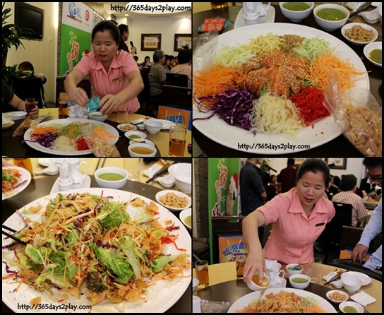 Thai Village @ Leisure Park - Prosperity Yu Sheng with special Wasabi Sauce